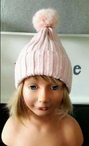 Bommelmütze Mütze mit Bommel rosa