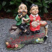 Dekofigur Oma und Opa sitzen