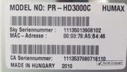 HUMAX PR-HD3000C SKY DIGITAL KABEL