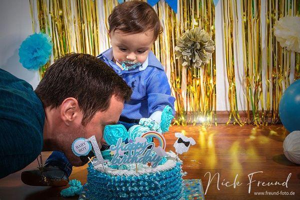 Smash Cake Kinder Fotoshooting in