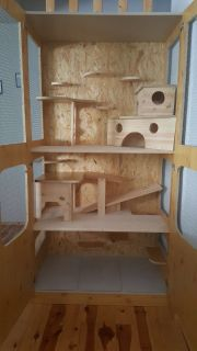 Kleintierkäfig aus Holz