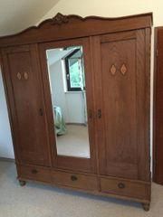 Schlafzimmer Holz Schränkchen Antiquiert mit