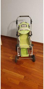 Puppenwagen funktionsfähig grün günstig anzugeben
