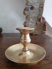 Antiker Messing-Kerzenhalter aus Familienbesitz
