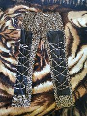 Leggings leopardenmuster glänzend M