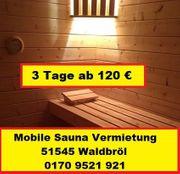 Mobile Sauna NRW - Nordrhein Westfalen - Oberberg -