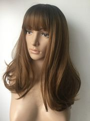 Damen Langhaarperücke Ombre Brown Wig