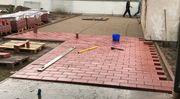 13 m2 rote Pflastersteine 18x3