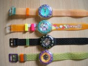 Swatch-Uhren aus den 80-90ziger Jahren