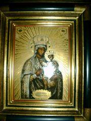 Ikone Goldene Madonna mit Kind