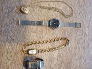 5 ältere Armbanduhren