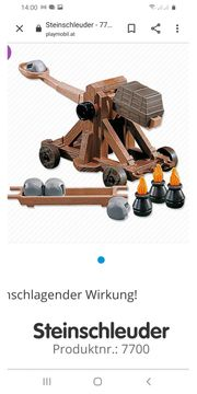 Playmobil Steinschleuder Neu
