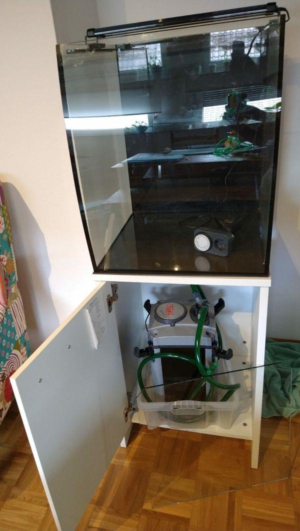 Aquarium ca 150L Außenfilter Unterschrank