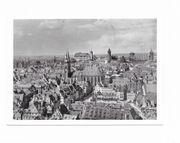 Fotokarte Nürnberg Altstadt vor Zerstörung