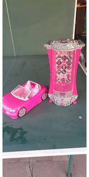 Barbie Glitzerschrank und Cabrio