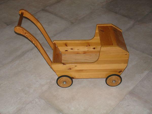 Puppenwagen - Lauflernwagen aus Holz