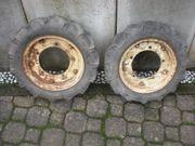 2 Reifen Räder von Mähmaschine