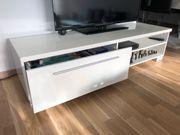 TV board Hochglanz weiß
