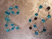 selbst gemachte ohrringe und Halsketten