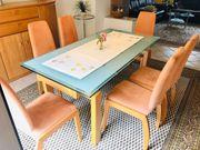 6 Esszimmer -Stühle Echtholz Buche