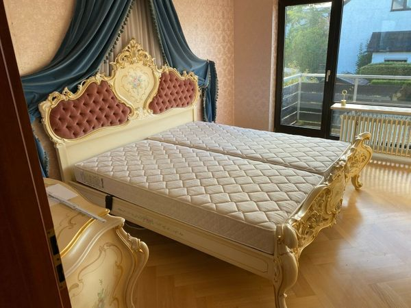 Barock Stilmöbel Schlafzimmer Bett Kleiderschrank
