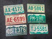 USA Colorado Nummernschilder Sammlungsauflösung
