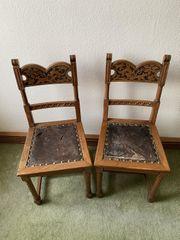 Antike Stühle Gründerzeitstühle Eiche Vollholz