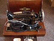 Verkaufe alte Singernähmaschine - elektrischer Antrieb -