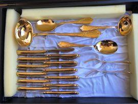 Bild 4 - Solingen Gold Besteck hartvergoldet 23 - Bayreuth Laineck