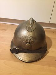 Französischer Stahlhelm Alter Helm Vintage