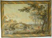 Gobelin Bildteppich Wäscherinnen am Fluss