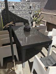Gartenmöbel Tisch mit 6 Stühlen