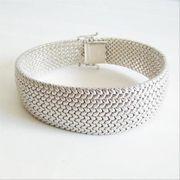 Armband Silber 835er geflochten rhodiniert