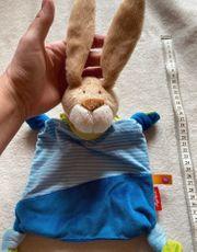 Sigikid Schmusetuch Baby Hase Blau