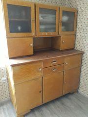 Küchen Büffetschrank 2-teilig mit Vitrinen -