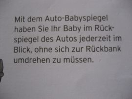 Autositze - Baby Spiegel fürs Auto Rücksitzspiegel