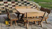 Gartenmöbel Gartengarnitur Tisch Bank Holz