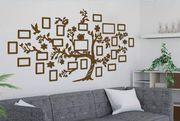 Familienstammbaum 210x150cm mit 23 Fotorahmen