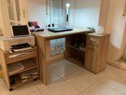 Schreibtisch mit Rollkontainer alles komplett