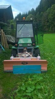 Ransomes Traktor Schneepflug