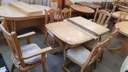 Esstisch ausziehb mit 6 Stühlen