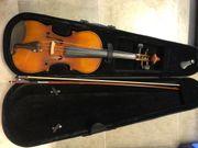 Geige im Koffer Geigenkasten Holz