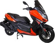 AleXone Maxi-Scooter 125ccm Racing Orange-Schwarz