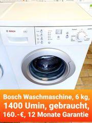 Bosch Waschmaschine gebraucht 12 Monate