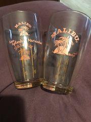 2 Malibu Cocktail Gläser