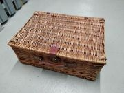 Picknickkorb aus Weidenholz für 4