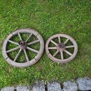 2 alte Wagenräder 30er Jahre