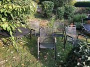 Gartenmöbel - kompl Garnitur aus Metall