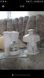 Kaffeemaschine und Mixer