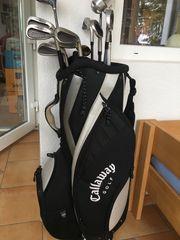 Golfbag und Schläger